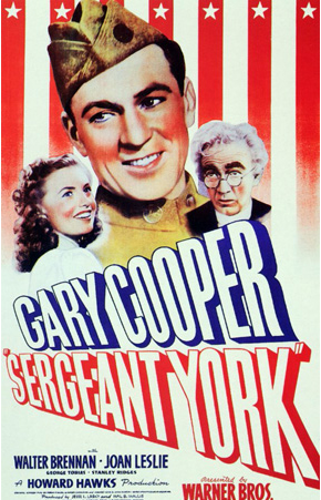 "Gary Cooper stares in ""Sergeant York"""