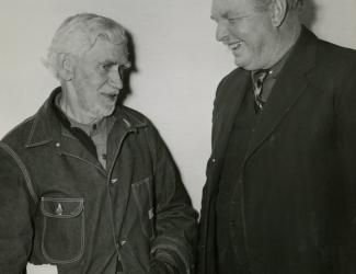 Mr. John Robert Hull and Sergeant Alvin C. York conversing