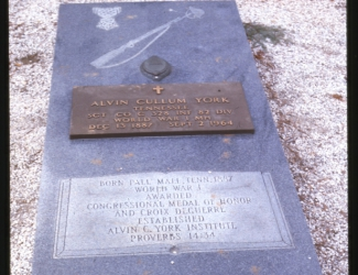 Tombstone of Alvin C. York