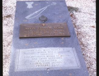 Tombstone of Alvin C. York