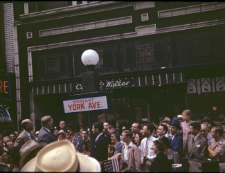 """Unveiling sign for """"Sergeant York Avenue"""""""