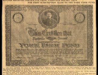 York Farm Fund Nashville Banner, article