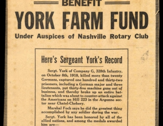 """York Tag Day Tomorrow, Benefit for York Farm Fund,"" newspaper article"