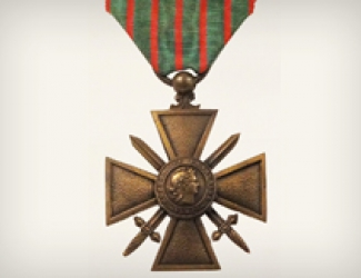 French Croix de guerre with Palm